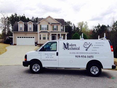service van outside a residential home