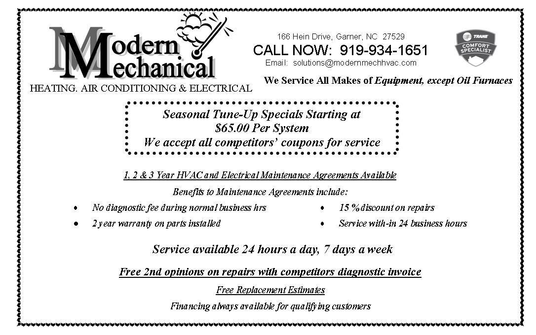 Maintenance-Specials