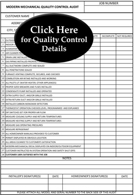 Quality Control Audit Information