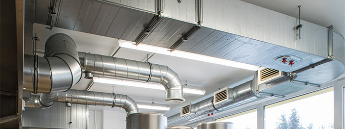 ductwork on ceiling