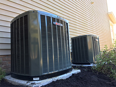 two outdoor hvac units